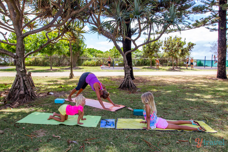 Yoga and travel with kids